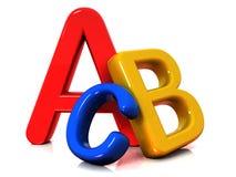 Cartas coloridas del ABC Imagen de archivo libre de regalías