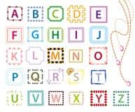 Cartas coloridas del alfabeto libre illustration