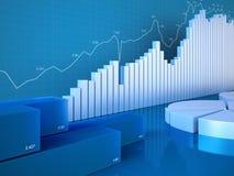 Cartas das estatísticas Foto de Stock Royalty Free