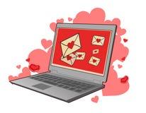 Cartas de amor Fotos de Stock Royalty Free
