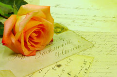 Cartas de amor fotos de archivo