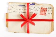 Cartas de amor de la vendimia Fotografía de archivo