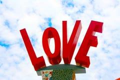 Letras de amor en rojo fotografía de archivo libre de regalías