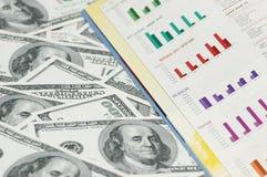 Cartas de barra do negócio Imagem de Stock Royalty Free