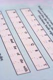 Cartas de Braille Fotos de archivo libres de regalías