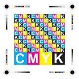Cartas de Cmyk Foto de archivo libre de regalías