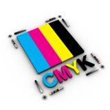 Cartas de Cmyk Fotografía de archivo libre de regalías