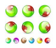 Cartas de cor bonitos Ilustração Stock