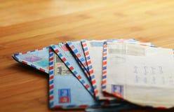 Cartas de correo aéreo Imagen de archivo libre de regalías