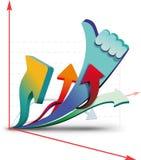 Cartas de crescimento Imagem de Stock