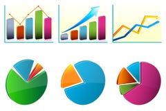 Cartas de crescimento do negócio ilustração stock