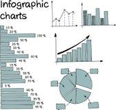 Cartas de Infographic_ Imagem de Stock