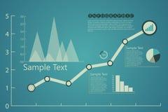 Cartas de Infographics en azul retro Fotografía de archivo