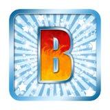 Cartas de la celebración del alfabeto - B Fotografía de archivo libre de regalías