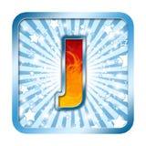 Cartas de la celebración del alfabeto - J Fotos de archivo libres de regalías