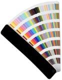 Cartas de la escala de colores Foto de archivo libre de regalías