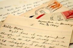 Cartas de la guerra Imágenes de archivo libres de regalías
