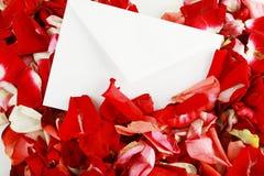 Cartas de la tarjeta del día de San Valentín Fotos de archivo libres de regalías