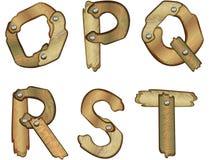 Cartas de madera del alfabeto Fotografía de archivo libre de regalías