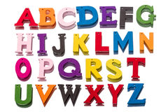 Cartas de madera del alfabeto Fotografía de archivo