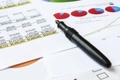 Cartas de negócio Fotos de Stock