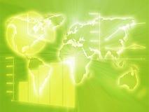Cartas de negócio do Spreadsheet Imagens de Stock Royalty Free