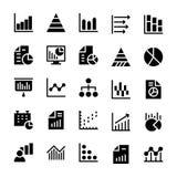 Cartas de negócio e ícones contínuos 1 dos diagramas ilustração stock
