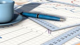 Cartas de planeamento ilustração do vetor