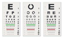 Cartas de prueba tradicionales del ojo libre illustration