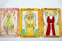Cartas de tarot Foto de archivo libre de regalías