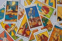 Cartas de tarot muy bonitas Imagenes de archivo