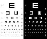 Cartas de teste do olho Fotografia de Stock Royalty Free
