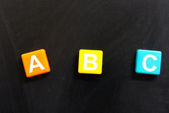 Cartas del ABC Fotografía de archivo libre de regalías
