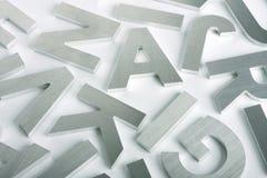 Cartas del acero inoxidable Imagen de archivo libre de regalías