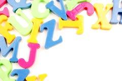 Cartas del alfabeto imagen de archivo libre de regalías