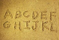Cartas del alfabeto imagenes de archivo