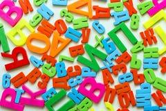 Cartas del alfabeto imágenes de archivo libres de regalías