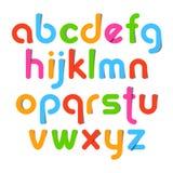 Cartas del alfabeto stock de ilustración