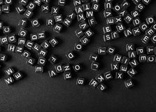 Cartas del alfabeto fotografía de archivo