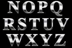 Cartas del alfabeto del cromo foto de archivo libre de regalías