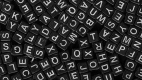 Cartas del alfabeto inglés fotos de archivo