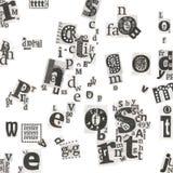 Cartas del arte del periódico abstracto Imágenes de archivo libres de regalías