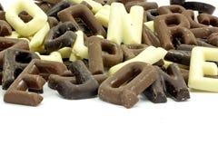 Cartas del chocolate Imágenes de archivo libres de regalías