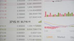 Cartas del comercio de Bitcoin almacen de video
