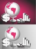 Cartas del globo y del gráfico del vector Fotografía de archivo libre de regalías