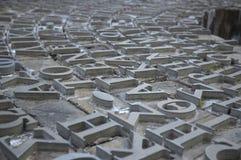 Cartas del Griego del metal Imagen de archivo