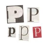 Cartas del periódico Foto de archivo libre de regalías