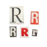 Cartas del periódico Imagen de archivo libre de regalías