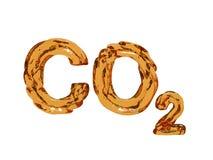 Cartas del símbolo del dióxido de carbono Imagenes de archivo