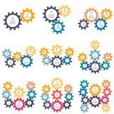 Cartas, diagramas com as 2 - 10 engrenagens Imagens de Stock